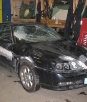 Rozbité autosklo Alfa Romeo